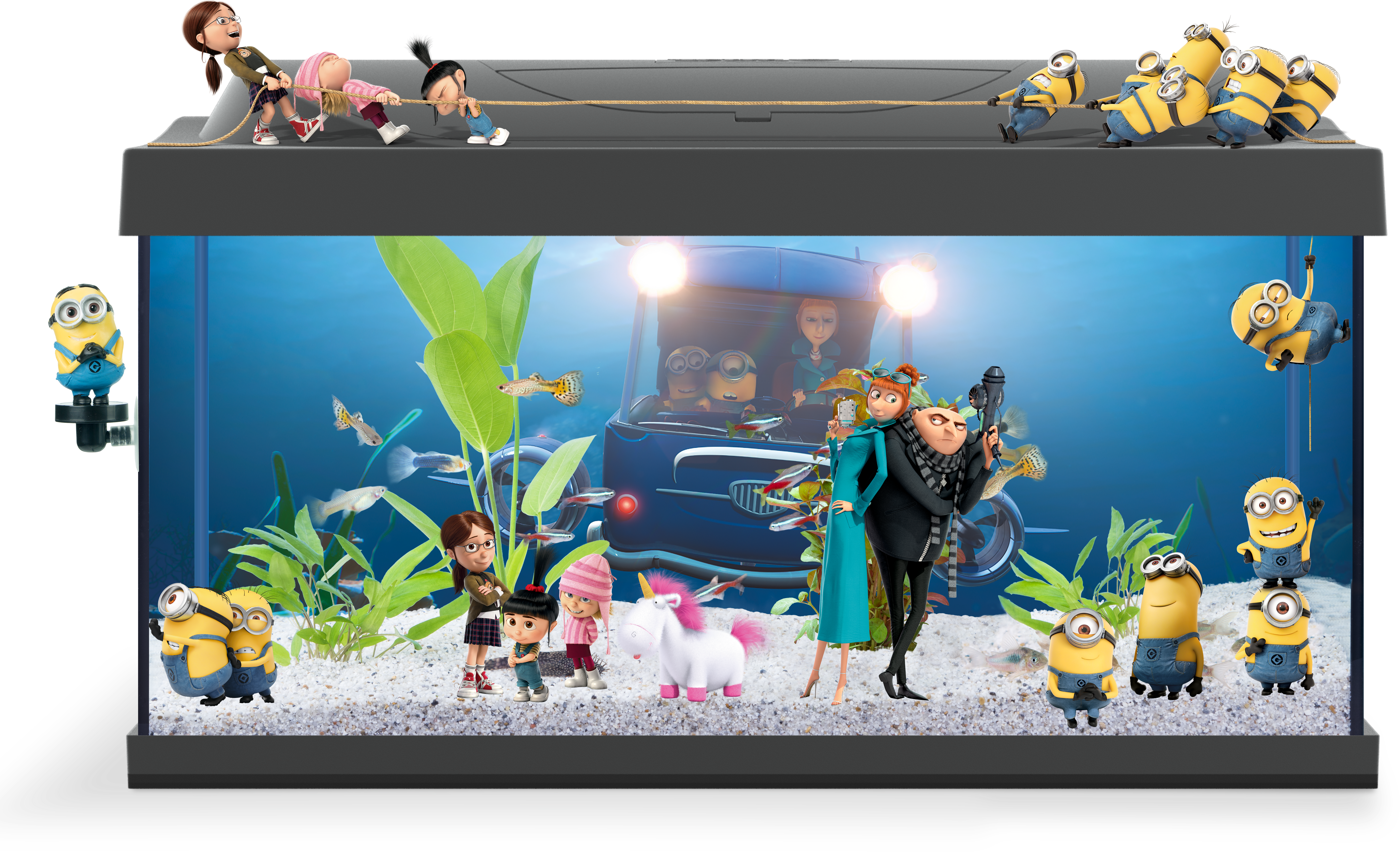tetra starter line aquarium despicable me edition 54l. Black Bedroom Furniture Sets. Home Design Ideas