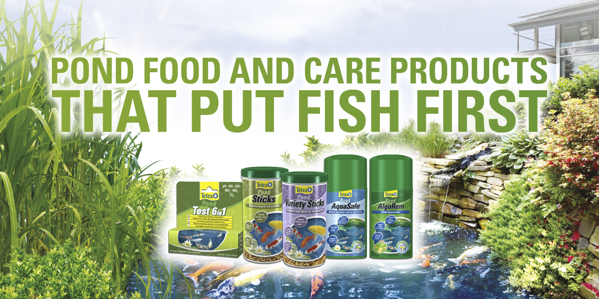 Tetra Pond Food and Care products that put fish first